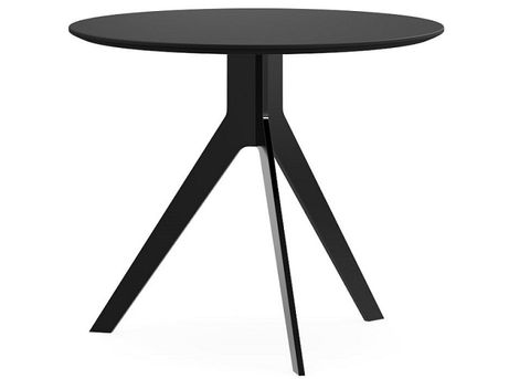 Table Round 800 diam Delta Nouveau 3legs Black