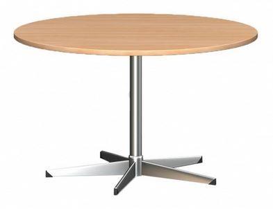 Table Round 900 Diam Chrome Zurich L2