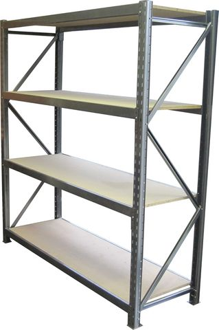 1 Bay H2000*D600*L1800mm 4 levels Ironstone, Chipboard Shelves