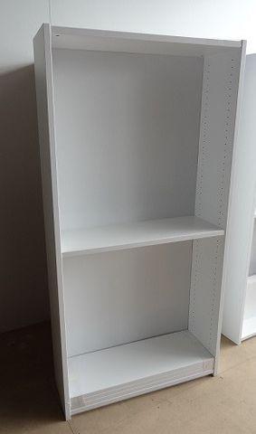 Bookcase S/S H1800*W900*D300. Mas Back White 200