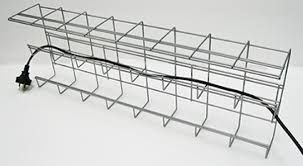 2Tier Cable Tray L950mm Silver Unfitted