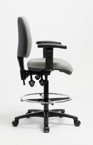 Galaxy Deluxe MB Drafting chair, 3 Lever F2 Zepel Onyx