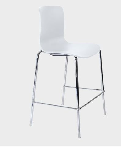 Acti Bar-stool H650mm Chrome 4-leg frame
