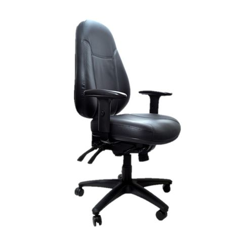 Buro Persona High Back Black Leather