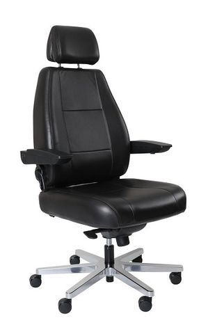 Control Master 24/7 Chair. Fab: Leather Black 200kg