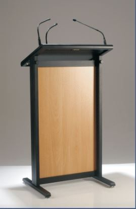 AL1800 Lectern with front panel European beech