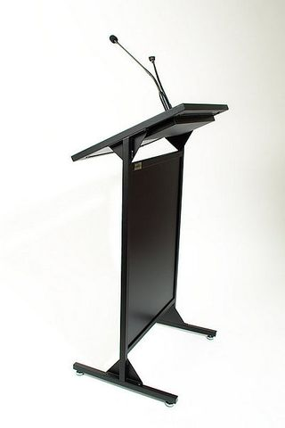 AL200S Lectern Black with single microphone socket