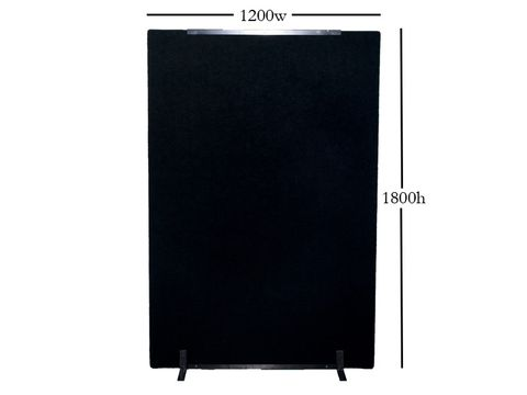Hire Screen W1200*H1800*30mm Black c/w 2 feet