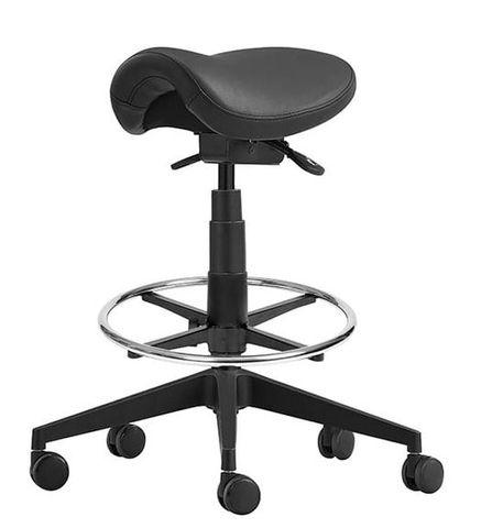 Cad Draft saddle stool 265mm gas Black PU 120kg