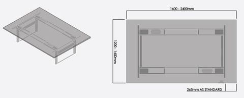 Elevation Meeting Table Frame Electric Boxed