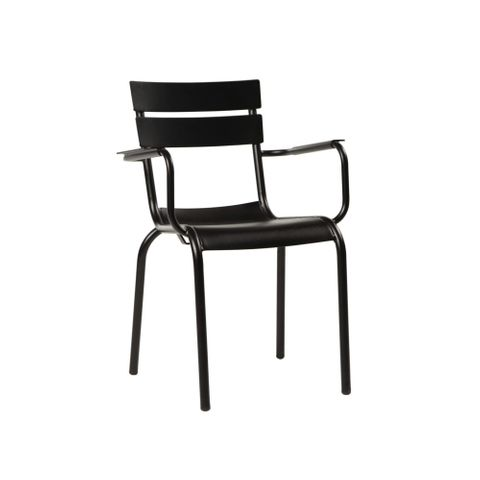 Porto outdoor aluminium chair with arms