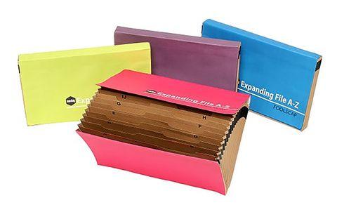 Expanding file A-Z Foolscap size Summer colours