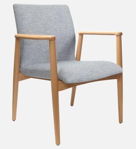 Konfurb Vienna Visitor Chair. Natural Frame. F: Keylargo Ash 120kg
