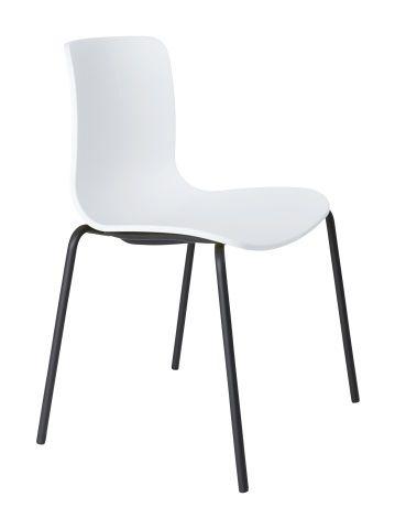 Acti Visitor Chair, 4 leg Black PC, Stacking