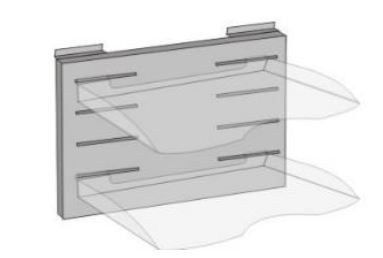 Multi Tray Support W400 x H250mm [No Trays]