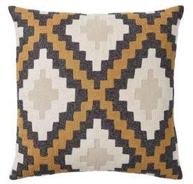 Getty Cushion Dijon Embroidery Cushion 50 x 50cm