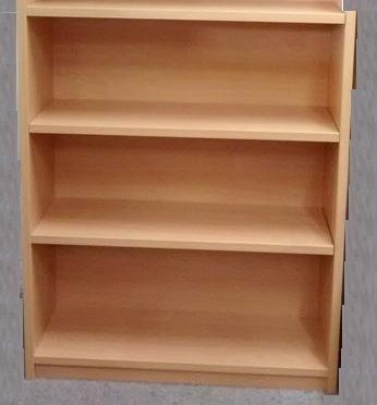 Solid Back Bookcase Range D300mm 18mm Level 2