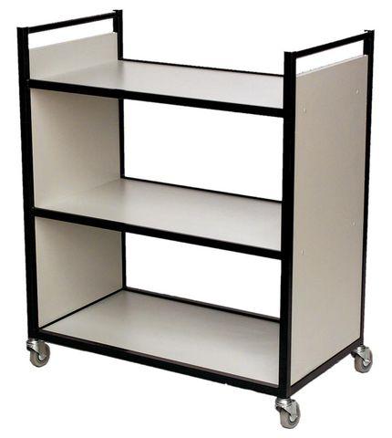 Flat Shelf Book Trolley H1050xW900xD500mm