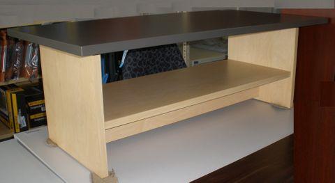 Coffee Table L1200xD600xH450mm Magazine shelf L2