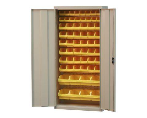 Bin Storage Cabinet with Doors H1840xW900xD350mm
