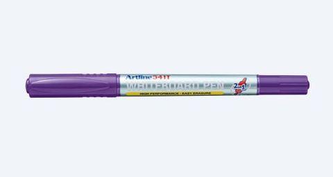Artline 525T Whiteboard Marker Dual Nib Purple Pen