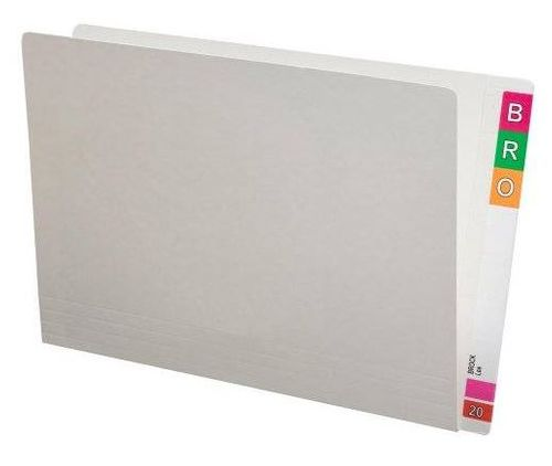Foolscap Folder Full End Tab White Pk100
