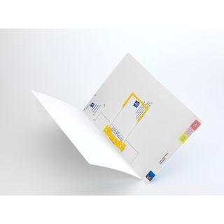 Folder Full End Tab White Inc Tubeclip Pk100