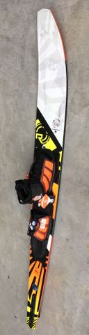 RADAR 2019 Total rader Awesomeness Junior Slalom Ski with Vector Boot & RTP - Used Ski with New Boots