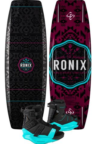 RONIX 2021 Quarter Til Midnight Wakeboard with Halo Boots