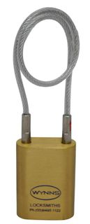 WYNNS 40MM PADLOCK 150MM CABLE