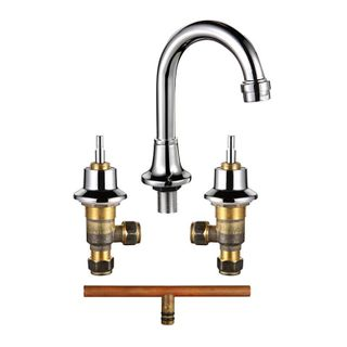 Basin Set Curved Outlet