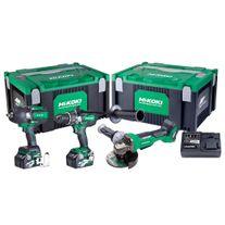 HiKOKI MultiVolt Cordless Combo Kit Brushless 3pce RGL 36v