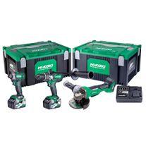 HiKOKI MultiVolt Cordless Combo Kit Brushless 3pce GBL 36v