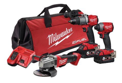 Milwaukee M18 FUEL Cordless Brushless 3pc Kit 3A2 18v 5Ah
