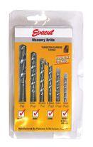 Evacut Drill Bit Set Masonry TCT 6pce