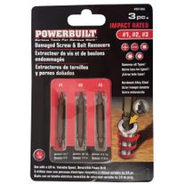 Powerbuilt Screw Extractor Set 3pc