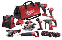 Milwaukee M18 FUEL Cordless Brushless 8pc Kit 8A2 18v 5Ah x 3
