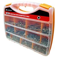 Powerbuilt 1000pc Robertson Screw Assortment Pack