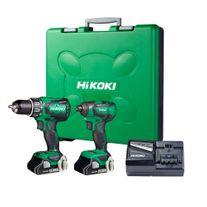 HiKOKI Cordless Hammer Drill & Impact Driver Compact Brushless 18v 3Ah
