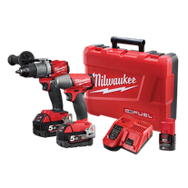 Milwaukee M18 FUEL Cordless Hammer Drill & Impact Wrench Gen3 18v 5Ah