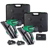 HiKOKI Cordless Framing Nailer Gasless/Brushless Twin Kit 18v 3Ah