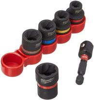 Milwaukee Bolt Extractor Set Impact 6pc
