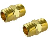 ToolShed 1/4in BSP Air Hex Nipple Fitting 2pk