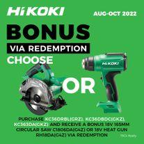 HiKOKI MultiVolt Cordless Combo Kit Brushless 3pc 36v