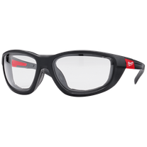 Milwaukee Safety Glasses High Performance with Gasket Clear