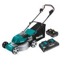 Makita Cordless Lawn Mower 460mm/18in 36v (2x18v) 5Ah