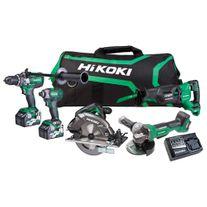 HiKOKI MultiVolt Cordless Combo Kit Brushless 5pc 36v 2.5Ah