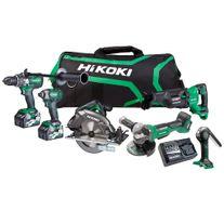 HiKOKI MultiVolt Cordless Combo Kit Brushless 6pc 18/36v