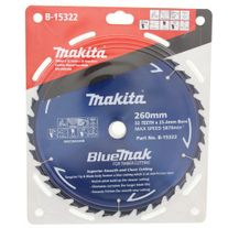 Makita Bluemak Saw Blade TCT 260mm x 50T