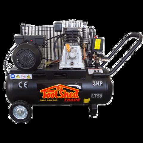 ToolShed Belt Dr Compressor 3hp 50L 12.5cfm